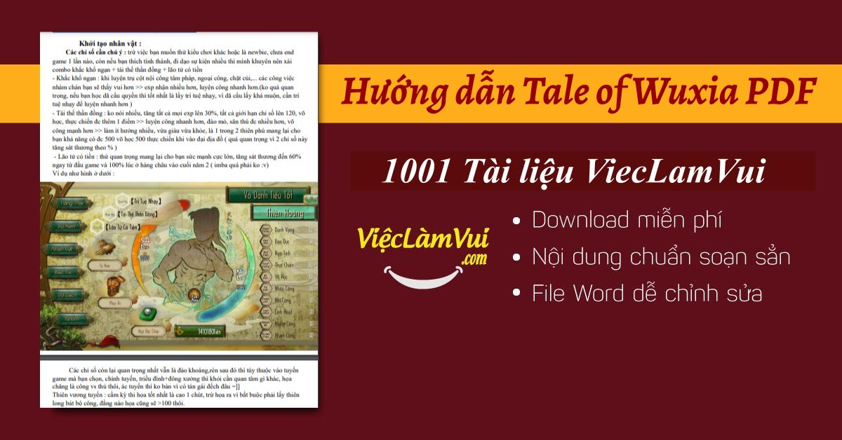 Hướng dẫn Tale of Wuxia PDF