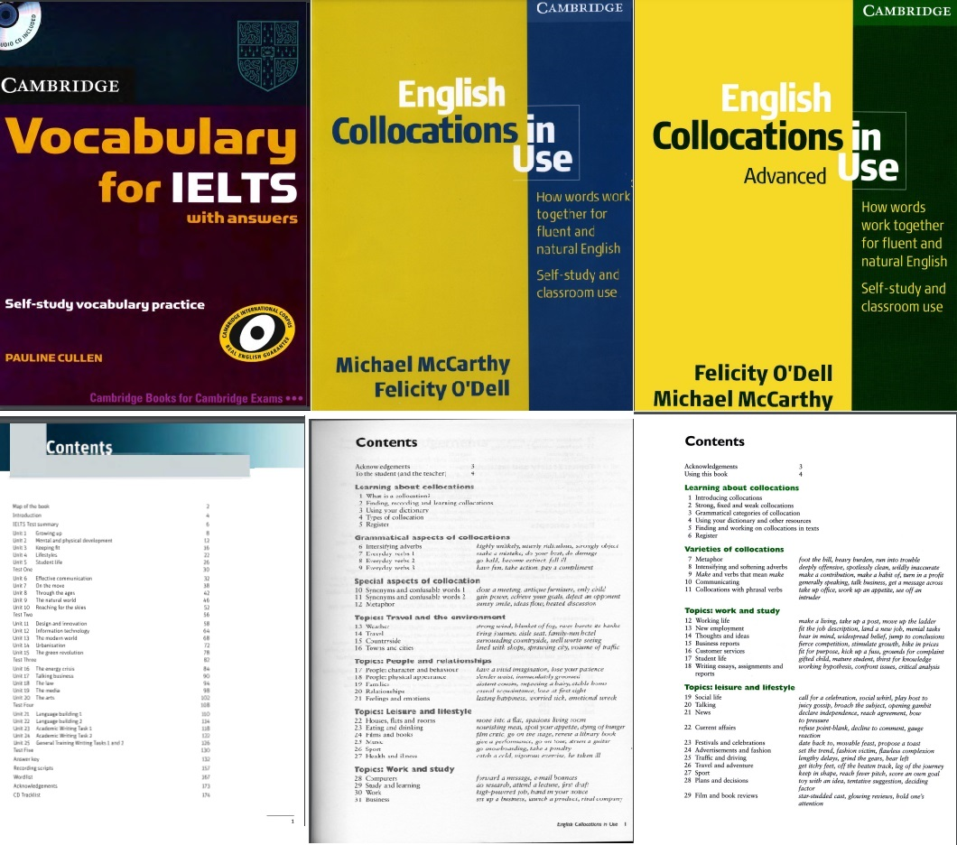 Tải full bộ sách English Collocation In Use PDF