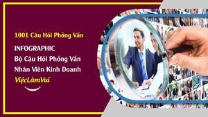 Infographic ViecLamVui: Bộ câu hỏi phỏng vấn tuyển dụng nhân viên kinh doanh
