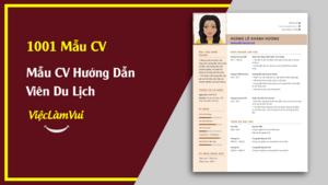 Mẫu CV Hướng Dẫn Viên Du Lịch