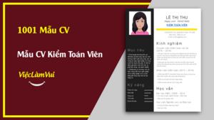 Mẫu CV Kiểm Toán Viên