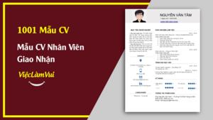 Mẫu CV Nhân Viên Giao Nhận