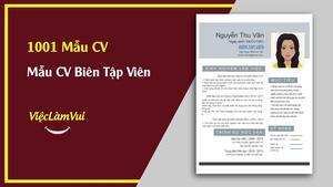 Mẫu CV Biên Tập Viên