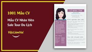 Mẫu CV Nhân Viên Kinh Doanh Tour Du Lịch