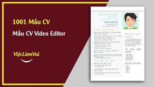 Mẫu CV Video Editor