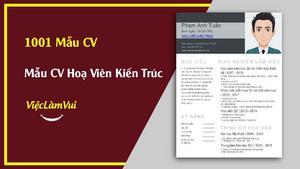 Mẫu CV Hoạ Viên Kiến Trúc