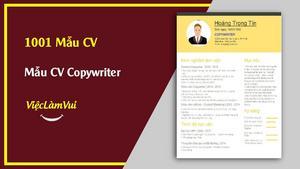 Mẫu CV Copywriter