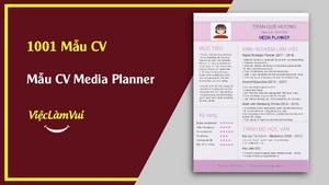 Mẫu CV Media Planner