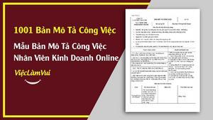 Mẫu Bản Mô Tả Công Việc Nhân Viên Kinh Doanh Online