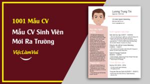 Mẫu CV Cho Sinh Viên Mới Ra Trường