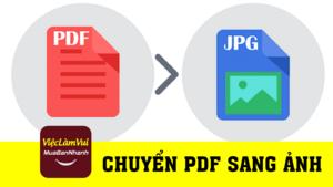 Hướng dẫn chuyển PDF sang hình ảnh