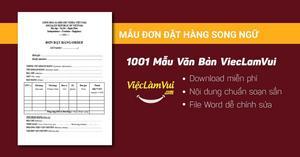Mẫu đơn đặt hàng song ngữ