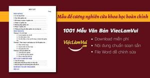 Mẫu đề cương nghiên cứu khoa học hoàn chỉnh file Word