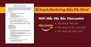 Download kế hoạch marketing mẫu file Word