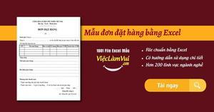 Mẫu đơn đặt hàng bằng Excel