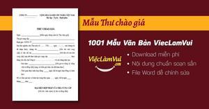 Mẫu Thư Chào Giá file Word
