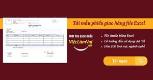 Mẫu phiếu giao hàng file Excel miễn phí