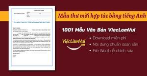 Mẫu thư mời hợp tác bằng tiếng Anh file Word