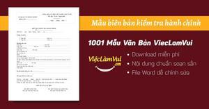 Mẫu biên bản kiểm tra hành chính file Word