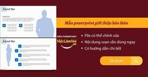 Tải mẫu powerpoint giới thiệu bản thân đẹp, chuyên nghiệp