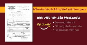 Mẫu tờ trình xin hỗ trợ kinh phí tham quan file Word