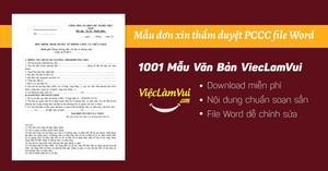 Mẫu đơn xin thẩm duyệt PCCC file Word