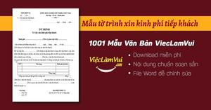 Mẫu tờ trình xin kinh phí tiếp khách file Word