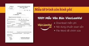 Mẫu tờ trình xin kinh phí chuẩn nhất file Word
