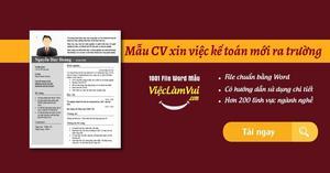 Mẫu CV xin việc kế toán mới ra trường file Word