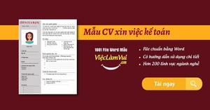 Mẫu CV xin việc kế toán chuyên nghiệp, đẹp file Word