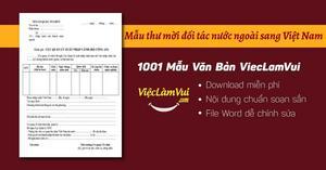 Mẫu thư mời đối tác nước ngoài sang Việt Nam file Word