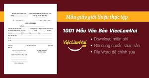 Mẫu giấy giới thiệu thực tập file Word
