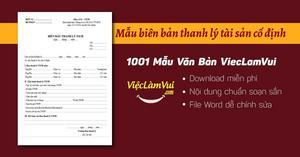 Mẫu biên bản thanh lý tài sản cố định file Word
