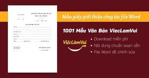 Mẫu giấy giới thiệu công tác file Word
