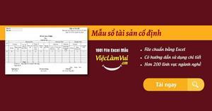 Mẫu sổ tài sản cố định file Excel