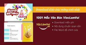 Download slide chúc mừng sinh nhật mẫu Powerpoint