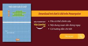 Download trò chơi ô chữ trên Powerpoint