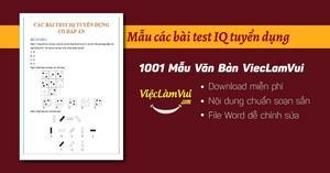 Download các bài test iq tuyển dụng hay file Word