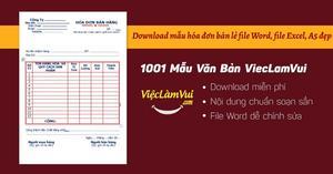 Download mẫu hóa đơn bán lẻ file Word, file Excel A5 đẹp