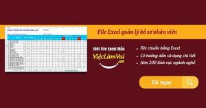 File Excel quản lý hồ sơ nhân viên