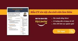 Mẫu CV xin việc cho sinh viên làm thêm file Word