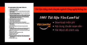 Tài liệu tiếng Anh chuyên ngành Công nghệ thông tin PDF