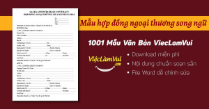 Mẫu hợp đồng ngoại thương song ngữ file Word