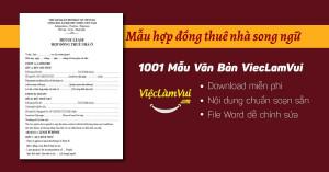 Mẫu hợp đồng thuê nhà song ngữ file Word