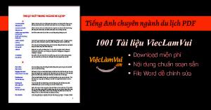 Tiếng Anh chuyên ngành du lịch PDF