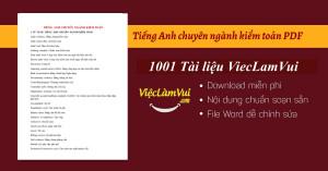 Tiếng Anh chuyên ngành kiểm toán PDF