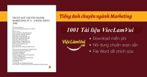 Tiếng Anh chuyên ngành Marketing PDF