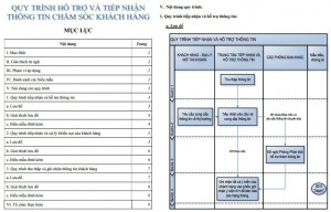 Sơ đồ quy trình chăm sóc khách hàng PDF, DOC