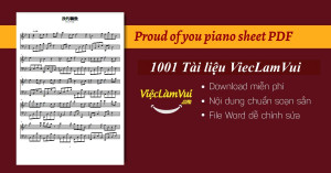 Proud of you piano sheet PDF