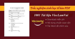 Trắc nghiệm sinh học tế bào PDF